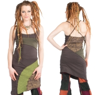 Earthy Psy Trance Overlock Pixie Festival Strappy Dress - Twist Dress (WASTWIS) by Altshop UK