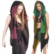 Hooded Pagan Pixie Fleece Open Drape Cardigan - Fleece Vest (WCA1017) by Altshop UK