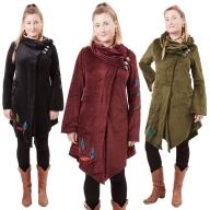 Elegant Velvet Boho Ladies Coat - Regina Coat (WCT2012) by Altshop UK