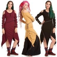 Medieval Psy Dress, braided tribal festival pagan gothic dress - Robin Hood Dress (WDR3391) by Altshop UK