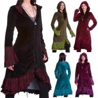 Velvet Boho Coat, Steampunk Corset Coat, Gothic Velvet Coat - Lieben Coat (WDR3491) by Altshop UK