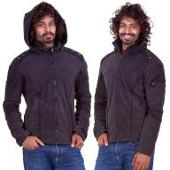 Men's Psy Trance Fleece Jacket, man's hippy clothing - Aragon Jacket (WS09) by Altshop UK