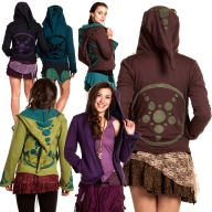 CROP CIRCLE PSY JACKET, pixie fleece