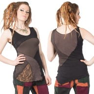 Ladies Tribal Vest Top, Hippy Summer Sleeveless Doof Top - Riverflow Top (WSCLV) by Altshop UK