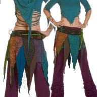 Ragged Pixie Skirt, Fairy Cosplay Skirt - Rag Miniskirt (WSRAGS) by Altshop UK