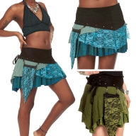 PIXIE POCKET MINISKIRT, psy trance skirt - Namaste Skirt (WSSK04) by Altshop UK