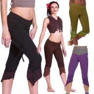 Psy Trance Pixie Woodland Hippy Fae Tribal Leggings - Accorn Leggings (WTR5007) by Altshop UK