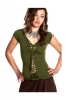 BRAIDED PIXIE TOP, psy trance slashed - Green