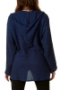 Loose Pixie Hood Cardigan in Navy - Boucle Pixie Cardigan (AAPIXC) by Altshop UK