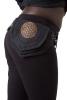 Sacred Geometry Pocket Belt in Black - FOL Belt Double (AARDOBEL) by Altshop UK