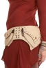 Pixie Pocket Belt with Lace and Studs in Beige - Pixie Shell Belt (AARPIXIS) by Altshop UK