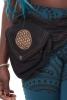 Sacred Geometry Flower of Life Pocket Belt in Black - FOL Belt Single (AARSINGL) by Altshop UK