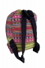 Pompom Fringed Rucksack, Colourful Festival Day Pack in Yellow - Trim Rucksack (AGTRIBA) by Lovely Jubbly