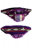 Pom Pom Fringed Bumbag, Colourful Rave Fanny Pack in Turquoise - Trim Bumbag (AGTRIM) by Lovely Jubbly