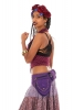 Sturdy Festival Pocket Belt with Lace and Studs in Purple - Lace Belt (AYALACE) by Altshop UK