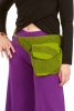 Cotton Pocket Belt, Psy Trance Fanny Pack, Festival Bumbag in Green - Japan Belt (BG5033) by Altshop UK
