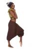 Fleece Lined Ali Baba Trousers in Brown - Shyama Fleece Ali Babas (BHIMFLA) by Altshop UK