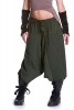 Fleece Lined Ali Baba Trousers in Green - Shyama Fleece Ali Babas (BHIMFLA) by Altshop UK