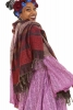 Oversized Wool Hippy Scarf, Large Warm Hippie Shawl Blanket in Purple - Paisley Shawl (BHIMSCF1) by Altshop UK