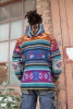 Hand-Woven Wool Hoodie, men's winter hippy jacket (Seven) - Yathra Jacket (BHIMYAT) by Altshop UK