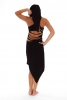 PIXIE HOOD DRESS, psy trance dress - Black