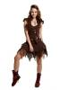 Elfin Fairy Skirt, faery pixie skirt, Goa psy trance skirt - Brown