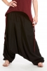 Ali Baba Pants, harem trousers, hippy festival Goa pants in Black - Babuji Pants (DBAFC) by Altshop UK