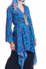 BOHO KIMONO JACKET, japanese festival hippy summer top in Blue - Japanese Wrap (DBANHC) by Altshop UK