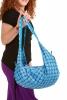 Hippy Beach Bag, boho sack bag, slouch hobo sack in Light Blue - Banana Bag Cotton (DBBACO) by Altshop UK