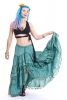 Hippy Gypsy Skirt, long lace boho skirt, sizes 8-5xl in Green Small - Gypsy Love Skirt (DBFRIL) by Altshop UK