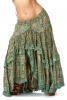 Flower Print High-Low Gypsy Skirt in Green - Gypsy Flower Skirt (DBFRIL2) by Altshop UK