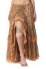 Flower Print High-Low Gypsy Skirt in Peach - Gypsy Flower Skirt (DBFRIL2) by Altshop UK