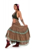 Long Boho Skirt, Cottagecore Mori Kei Skirt in Brown - Hand Dyed Gypsy Love Skirt (DBFRIL3) by Altshop UK