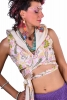 Reversible Hippy Crop Top with Pixie Hood in Ivory - Opal Top (DBOPAL) by Altshop UK