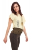Distressed Cropped Punky Tee in Cream - Altered Tee (DCATEE) by Altshop UK