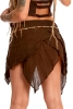 Asymmetric Layered Pixie Skirt with Pocket in Brown - Durga Skirt (DCDURS) by Altshop UK