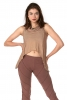 Natural Eco Jute Crop Top in Dusty Pink - Goa Vest (DCGOAV) by Altshop UK