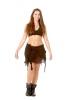 Goa Psy Trance Skirt, Hippy Mini Skirt in Black - Jute Shivay Skirt (DCJUSH) by Altshop UK