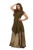 Boho Goddess Overlay Jacket Dress in Green - Kalee Dress (DCKALI) by Altshop UK