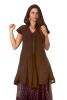Boho Goddess Overlay Jacket Dress in Brown - Kalee Dress (DCKALI) by Altshop UK