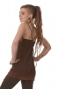 Strappy Hippy Vest Top, Pretty Lace Camisole in Brown - Lycra Lace Top (DCLYCL) by Altshop UK