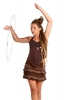 Mini Skirt with Shorts, Psy Trance Hippy Tribal Skirt in Brown - Mini Short Skirt (DCMSS) by Altshop UK