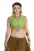 Psy Trance Lace Vest Top in Green - Nadi Vest (DCNADI) By Altshop UK