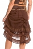 Layered Lace Earth Goddess Skirt in Chocolate Brown - Waterfall Skirt (DCWATS) by Altshop UK