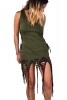 Psy Trance Clothing Goa Doof Pixie Dress in Green - Jungle Dress (DEVDEVP) by Altshop UK