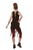 Psy Trance Clothing Goa Doof Pixie Dress in Black/Brown - Jungle Dress (DEVDEVP) by Altshop UK