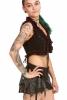 Psy Trance Lace Top, bohemian festival steampunk waistcoat in Black - DEVEYE by Altshop UK