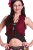 Psy Trance Lace Top, bohemian festival steampunk waistcoat in Red - DEVEYE by Altshop UK