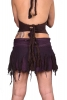 Wrap-around Frayed Ghass Cotton Mini Skirt in Purple - Ghass Skirt (DEVGASK) by Altshop UK