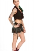 Psy Trance Miniskirt, pixie festival doof Goa skirt in Black (Netting) - DEVGIRI by Altshop UK